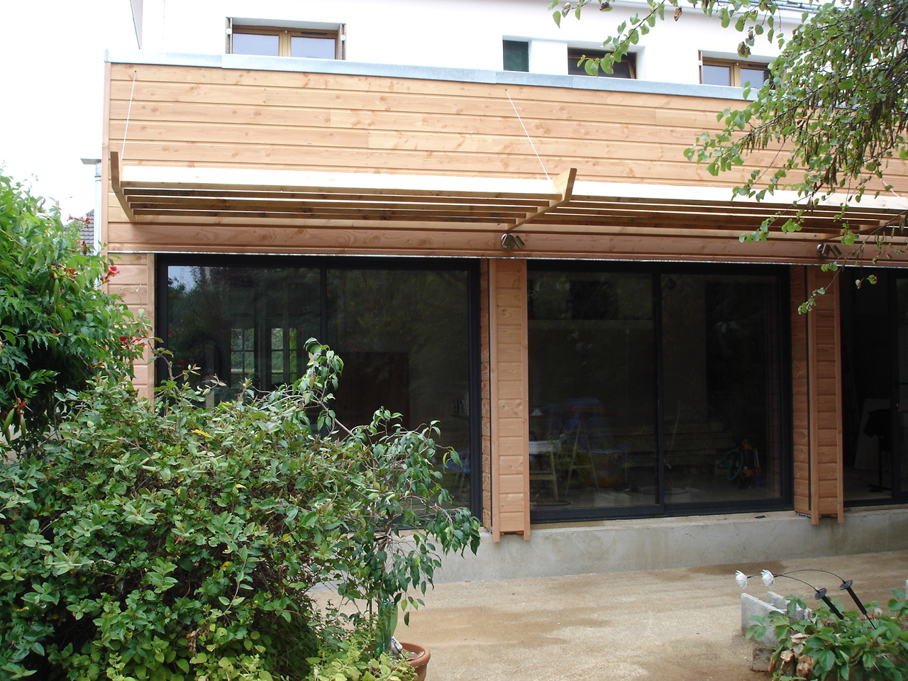 autoconstruction extension ossature bois. Black Bedroom Furniture Sets. Home Design Ideas